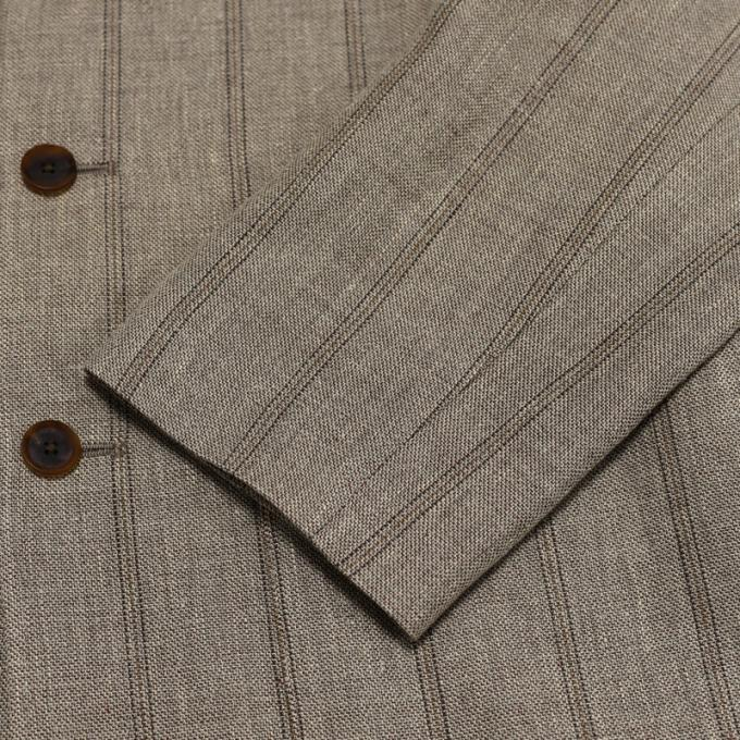 AURALEE / Linen Wool Silk Shark Skin Shirts Jacket