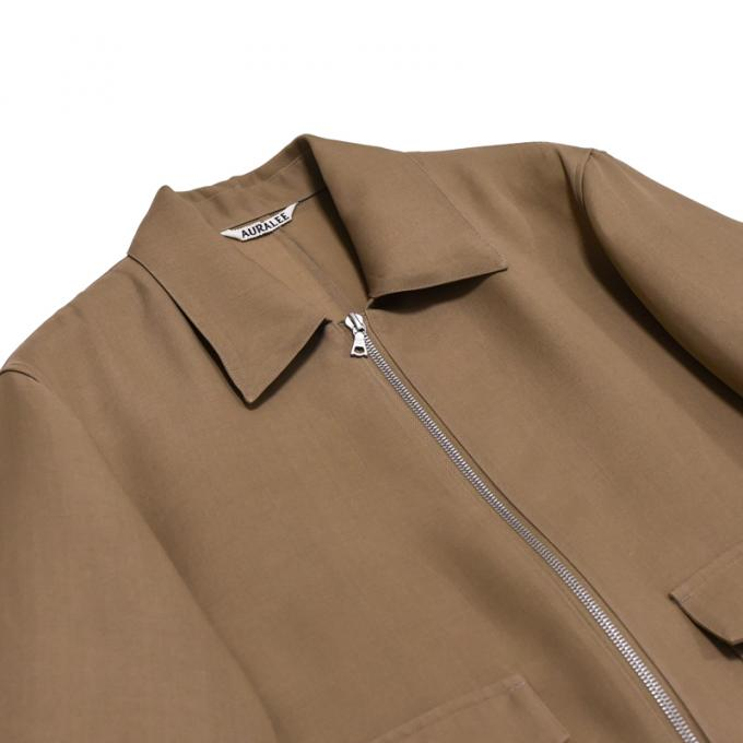 AURALEE / Silk Triple Cloth Zip Blouson