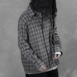 AURALEE / Washable Super Light Wool Check  Shirts