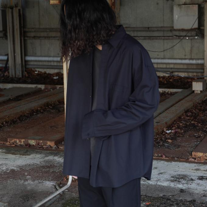 stein / Fly Front Sleeve Oversized Shirt