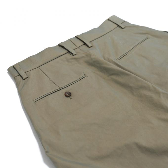 MAINU / Side Dirts Pocket Wide Pants (Khaki)