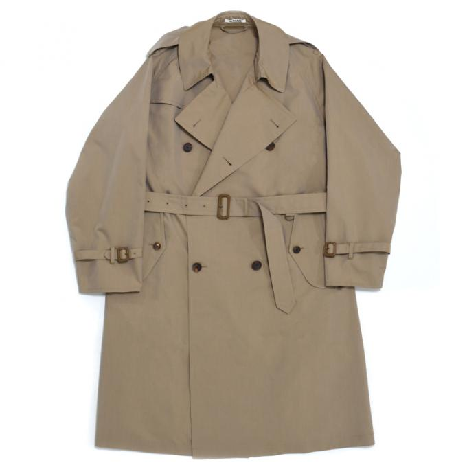 AURALEE / Finx Polyester Big Trench Coat