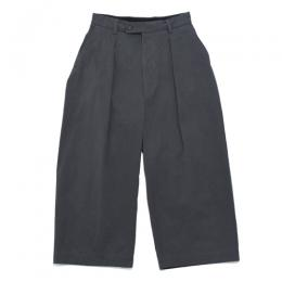 MAINU / Cotton Side Dirts Wide Pants(Charcoal Gray)