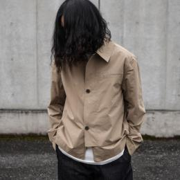 STUDIO NICHOLSON / Powder Cotton Overlap Shirt