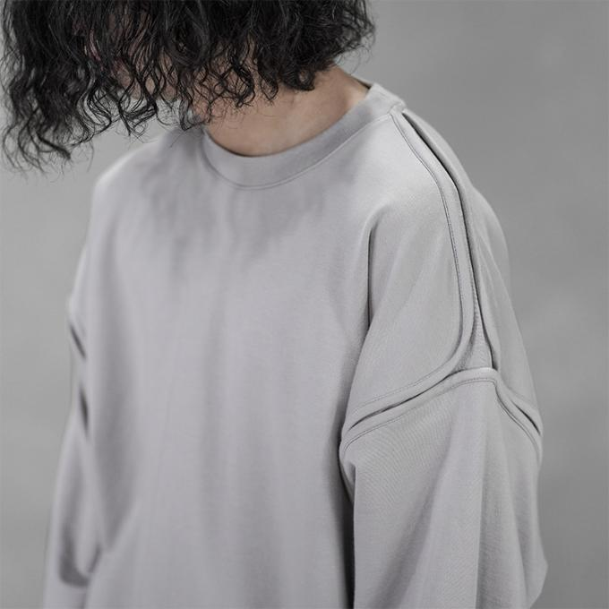 YOKE / Oversized Piping Sweat Shirt