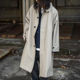 STUDIO NICHOLSON / Technical Cotton Raglan Raincoat