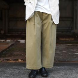 STUDIO NICHOLSON / Cotton Drill Volume Pants