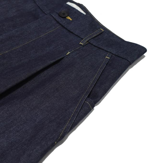 STUDIO NICHOLSON / Washed Denim Volume Pants