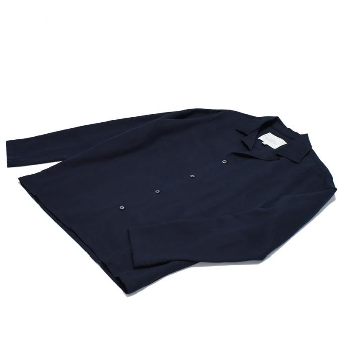 STUDIO NICHOLSON / Long Sleeve Camp Collar Shirt