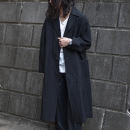 WIRROW / Bamboo Linen Over Coat (Black)