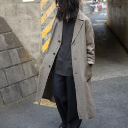 WIRROW / Bamboo Linen Over Coat (Khaki Beige)