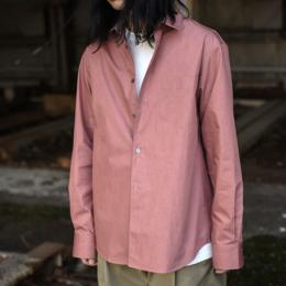 STUDIO NICHOLSON / Paper Poplin Oversized Point Collar Shirt