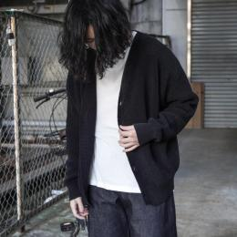 WIRROW / Tape Yarn Rib Knit Cardigan