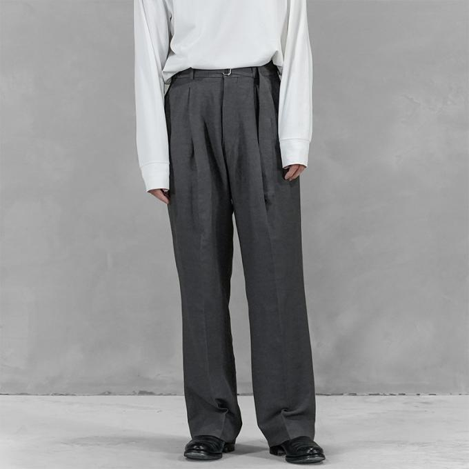 YOKE / Belted 2Tuck Wide Trousers