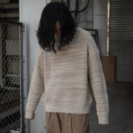 YOKE / 5G Back Zip Oversized Rib Knit