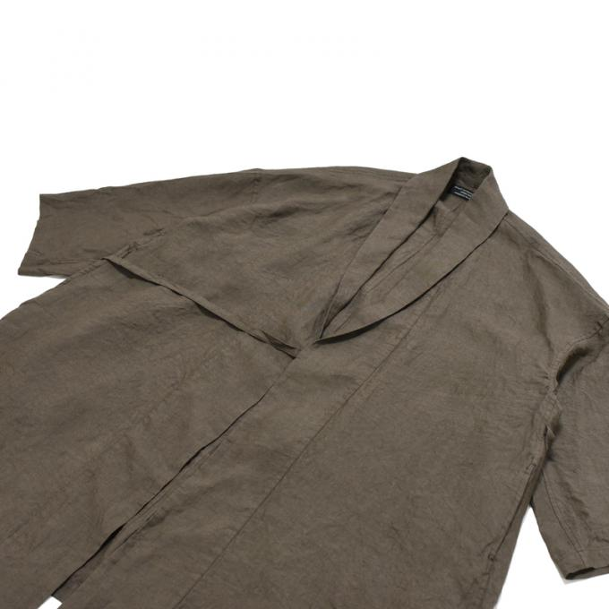GARMENT REPRODUCTION OF WORKERS / Ramie Robe Alette (Taupe)