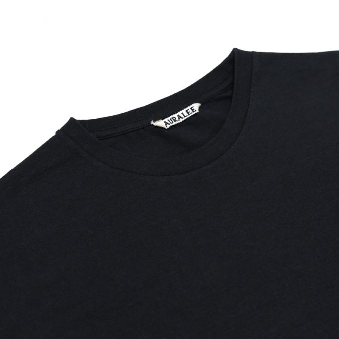 AURALEE / Seamless Crew Neck Tee (Black)