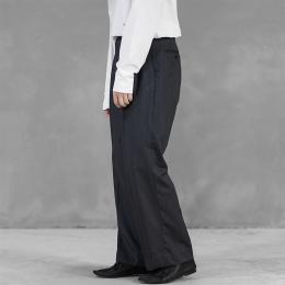 Riprap / Two Tuck Wide Slacks (M Gray)