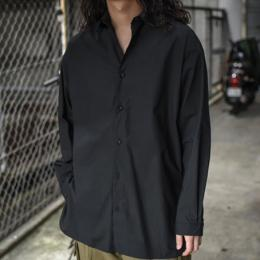 GARMENT REPRODUCTION OF WORKERS / Wide Silhouette Shirt (Black)