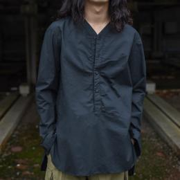 GARMENT REPRODUCTION OF WORKERS / Henry Neck Shirt Long (Black)