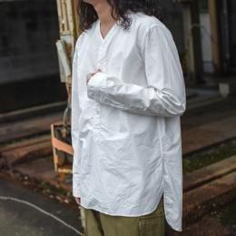 GARMENT REPRODUCTION OF WORKERS / Henry Neck Shirt Long (White)
