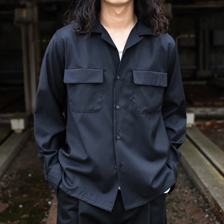 Riprap / Semi Open Collar Shirt