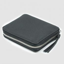 ERA. / Bubble Calf Round Palm Wallet (Black)