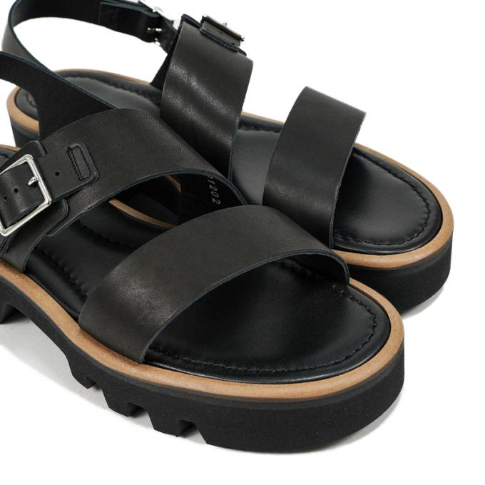 AURALEE / Leather Belt Sandals Made By foot the coacher