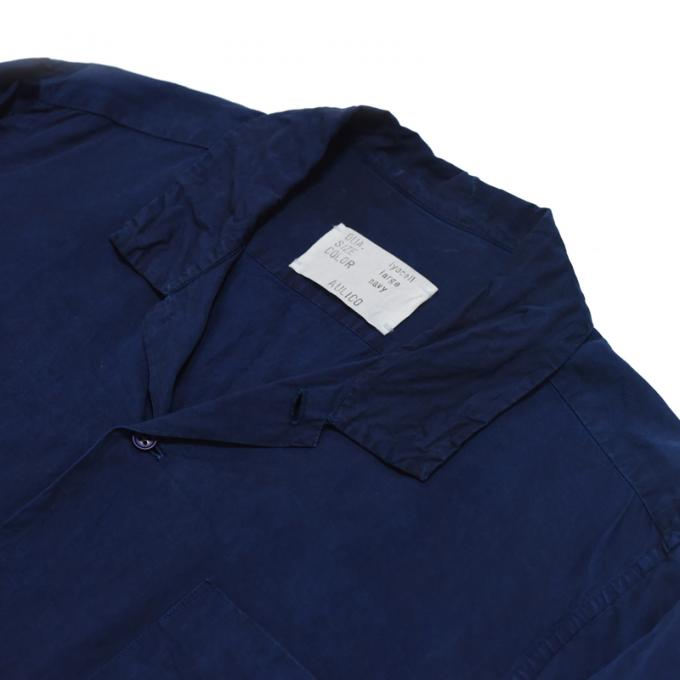 AULICO / Open Collar Shirt (Navy)