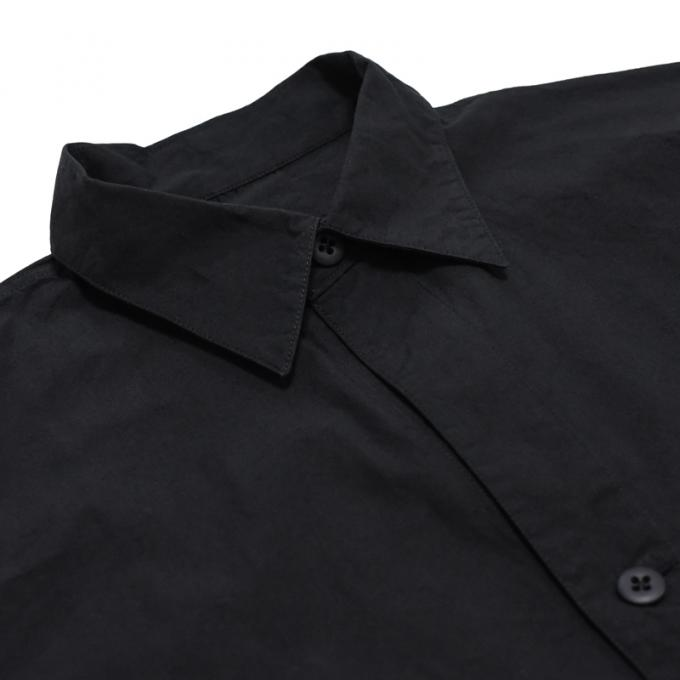 MASTER&Co. / Washable Cotton Linen Big Shirt (Black)
