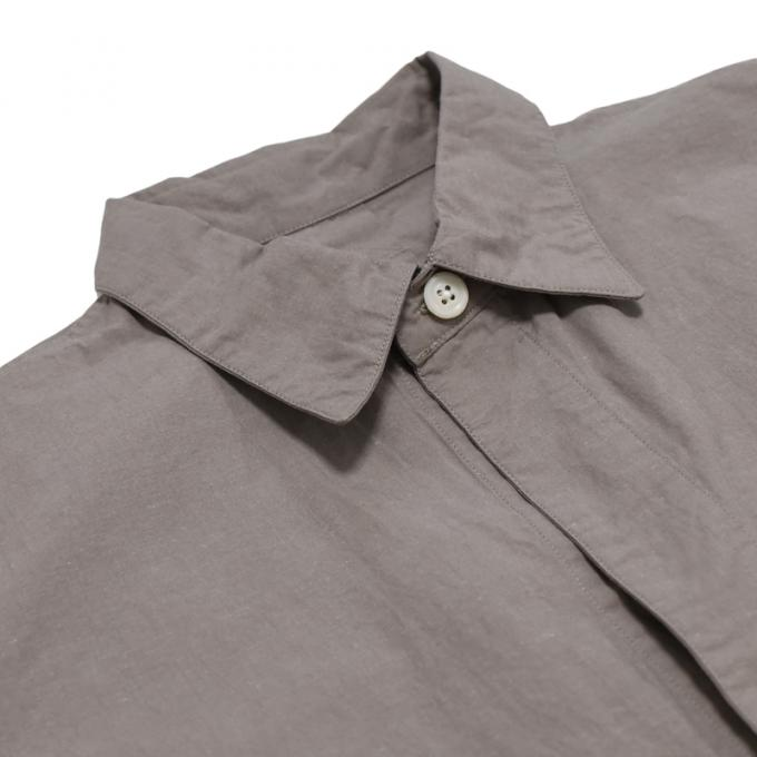 MASTER&Co. / Washable Cotton Linen Big Shirt (LT Beige)