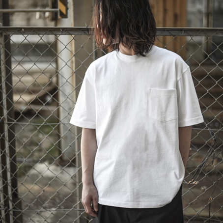 CAMBER / 8oz Max Weight Pocket Tee (White)
