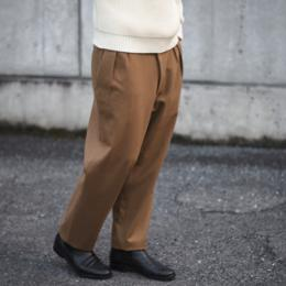 Honor gathering / Tasmania Wool 2tuck Semi Wide Slacks (Camel)
