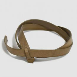Phlannel / Buckleless Leather Belt (Ocher)