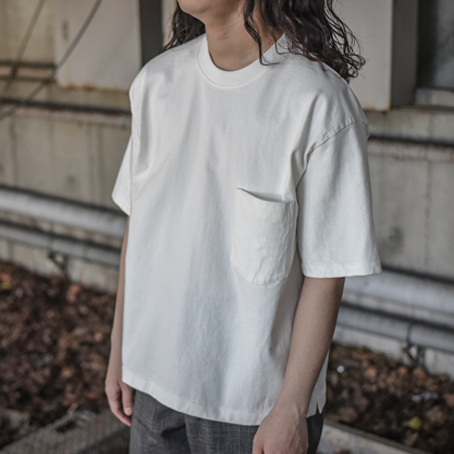 AURALEE / Stand-Up Tee (White)
