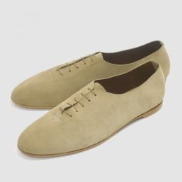 Honor gathering × twelve / England Dressy Suede Dance Shoes (Suede Beige)