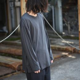 WIRROW / Crew Neck Long Sleeve Cut&Sewn (Dark Gray)