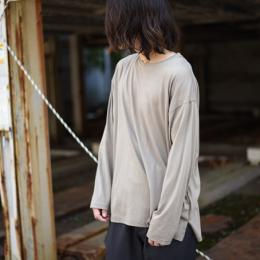 WIRROW / Crew Neck Long Sleeve Cut&Sewn (Beige)
