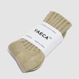 YAECA / Cotton Silk ソックス 17AW (Khaki)