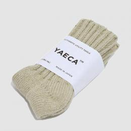 YAECA / Cotton Silk ソックス 17AW (Beige)