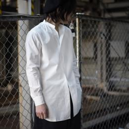 【SALE】MASTER&Co. / Washable Cotton Linen Big Shirt (White)