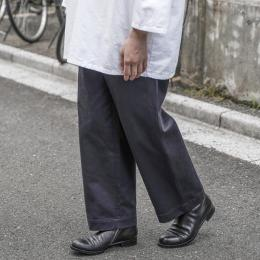 AURALEE / Washed Finx Chino Wide Pants (Ink Black)