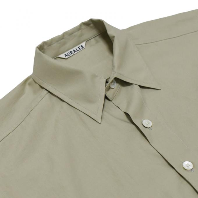 AURALEE / Washed Finx Twill Big Shirts (Light Khaki)