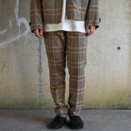 AURALEE / Wool Serge Check Narrow Slacks