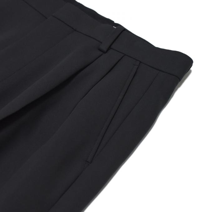 AURALEE / Hard Twist Double Cloth Wide Slacks (Ink Black)