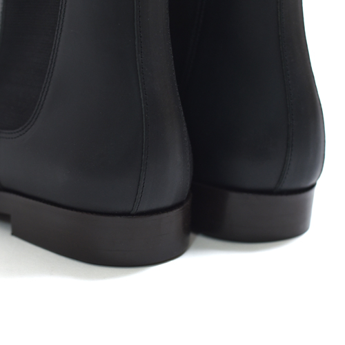 Honor gathering / Vachetta Side Gore Boots (Black)