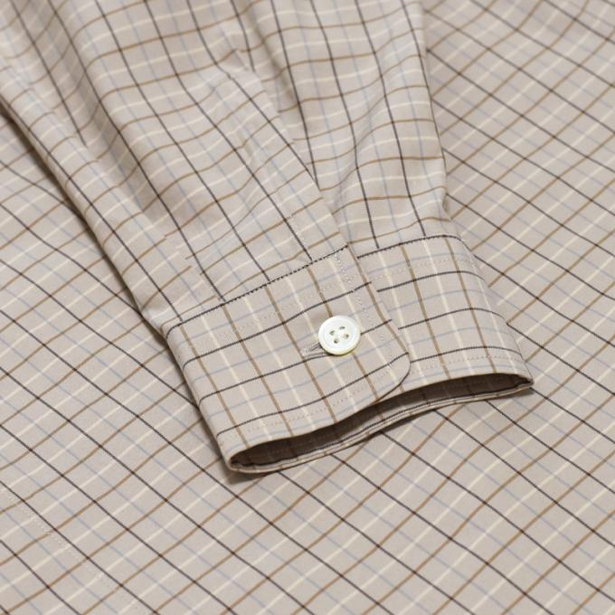 AURALEE / Washed Finx Twill Big Shirts (Tattersall Check)