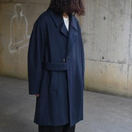 STUDIO NICHOLSON / Ghost Herringbone Oversized Wool Coat