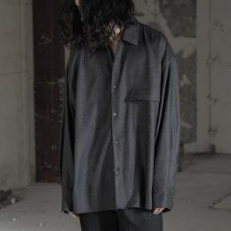 stein / Oversized Down Pat Shirt Wool (Charcoal)