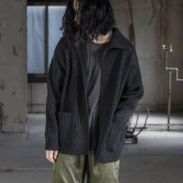 AURALEE / Super Fine Wool Rib Knit Cardigan